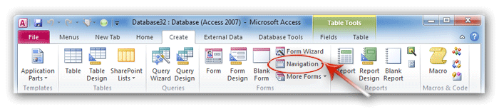Where is Navigation Pane in Microsoft Access 2010, 2013 and 2016