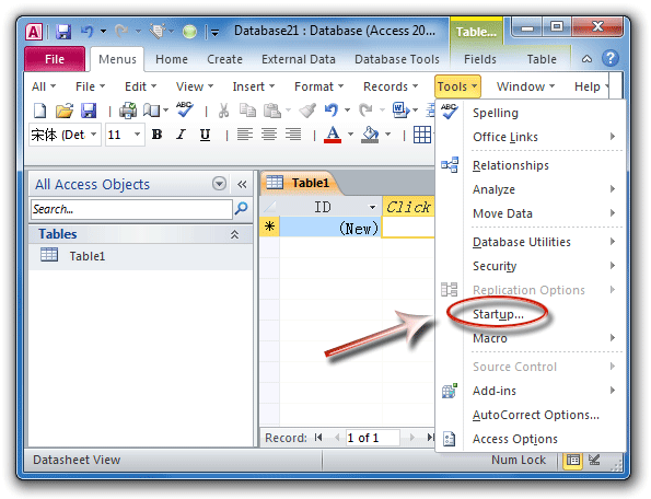ms access 365 security