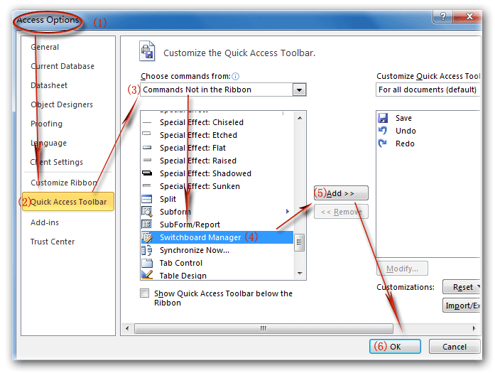 ms access 2016 linked table manager