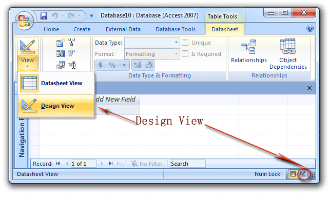 Where Is Design View In Microsoft Access 2007 2010 2013 And 2016