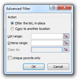 how to use advanced filter in excel 2016