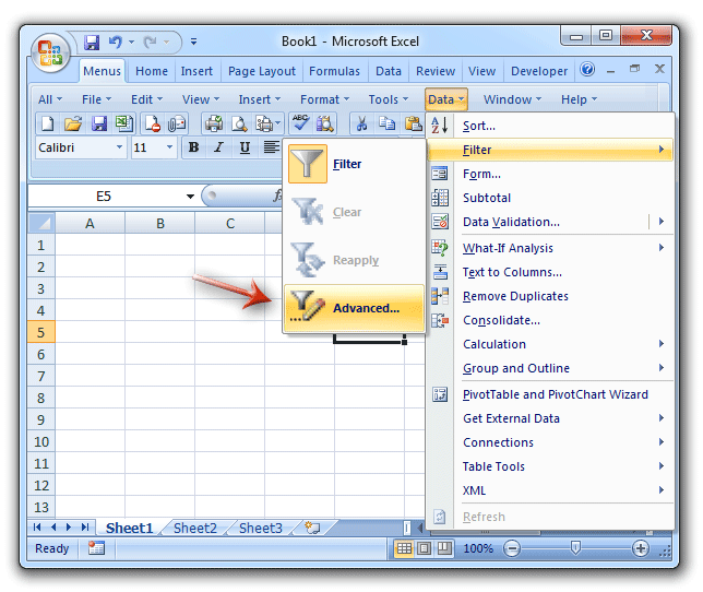 kutools option in excel 2010