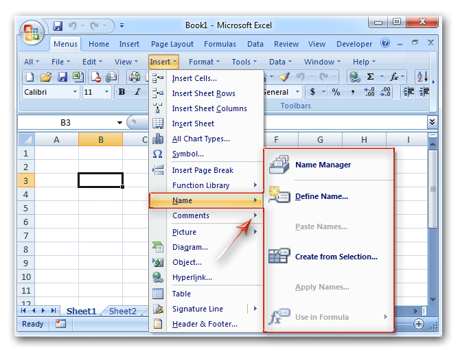 Where is Name Box in Microsoft Excel 2007, 2010, 2013, 2016
