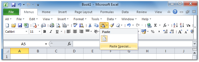 Paste special not working in excel 2007 unicode — pic 2