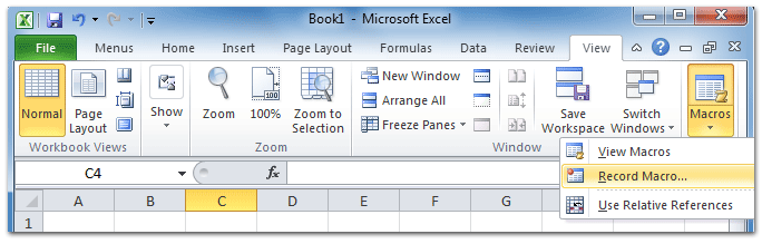 Where is Record Macro in Microsoft Excel 2007, 2010, 2013 and 2016