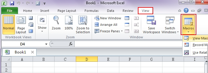 writing macros in excel 2010
