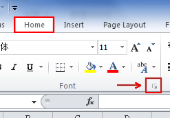 Where is Strikethrough in Microsoft Excel 2007, 2010, 2013