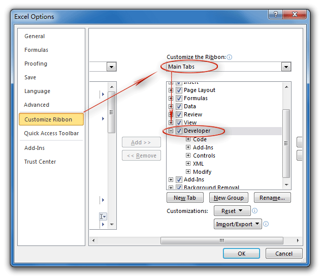 Where Is The Design Mode In Excel 2007 2010 2013 And 2016
