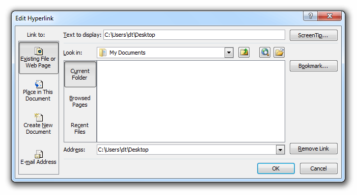 Where is the Edit Hyperlinks in Microsoft Excel 2007, 2010