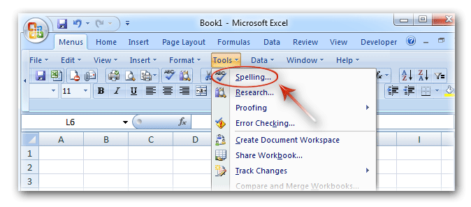 Where Is Spell Check In Microsoft Excel 2007 2010 2013 And 2016. Spell Check In Classic Menus. Worksheet. What Is Active Worksheet In Excel At Mspartners.co
