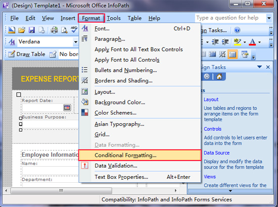 Where is Conditional Formatting in InfoPath 2010, 2013 and 2016
