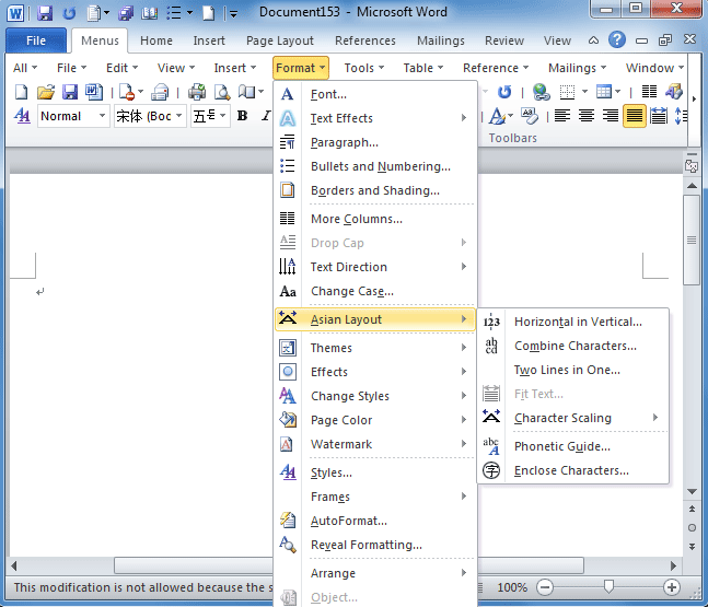 microsoft office word format