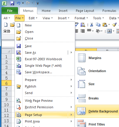 Figure 3 Background Removal In Excel 2010