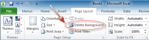 Figure 4 Backgournd Removal In Excel 2010s Ribbon
