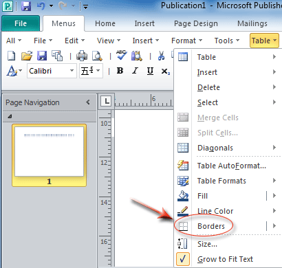 Where is Border in Microsoft Office 2007, 2010, 2013 and 365