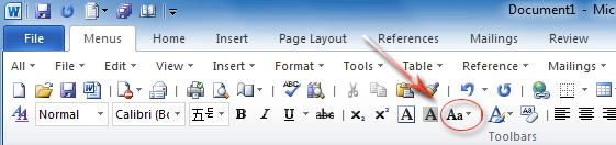 how to change microsoft office toolbar language