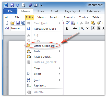 Where is Clipboard in Microsoft Office 2007, 2010, 2013 and 365