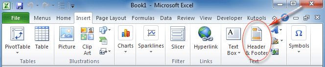 Where is Header and Footer in Office 2007, 2010, 2013 and 365