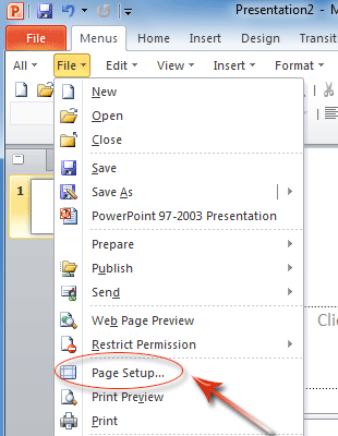 Where is Page Setup in Office 2007, 2010, 2013 and 365