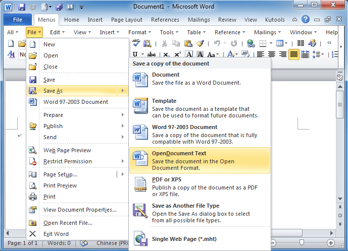 Where is Save As command in Office 2007 2010 2013 and 365 – Microsoft Office Menu Template