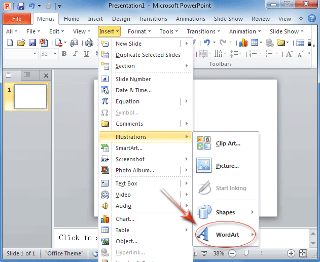 Where is WordArt in Office 2007, 2010, 2013 and 365