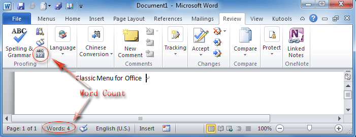 Where is word count in office 2007 2010 2013 and 365 word count button in word 2010s ribbon spiritdancerdesigns Gallery