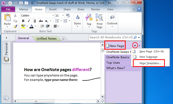 Where Is Templates In Microsoft Onenote 2010 2013 2016 2019 And 365