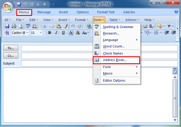 Where Is The Address Book In Microsoft Outlook 2007 2010 2013 And 2016