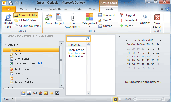 Where Is Instant Search In Outlook 2010, 2013, 2016, 2019
