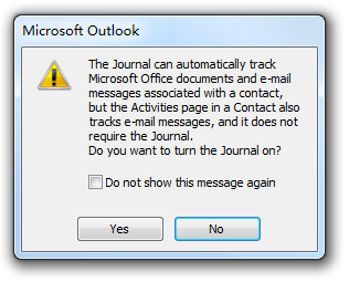 Where is Journal in Microsoft Outlook 2010, 2013 and 2016