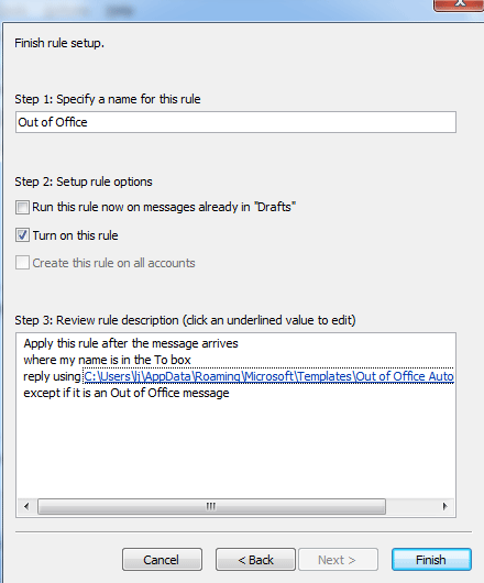ooo mail template - how to set out of office auto reply outhouse it