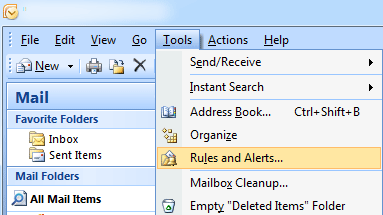 Set Out of Office (Auto Reply) in Outlook 2003, 2007, 2010