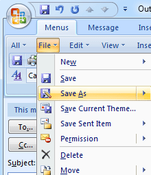 Set out of office auto reply in outlook 2003 2007 2010 for Saving a template in outlook