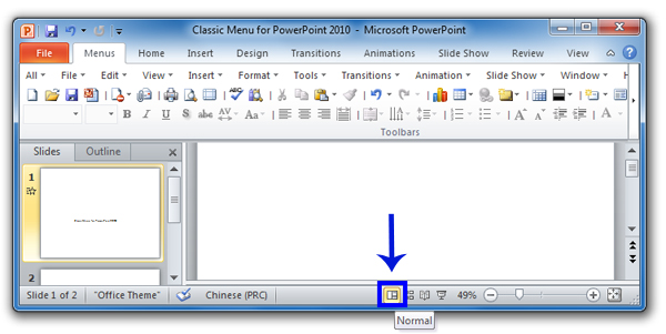 where is the delete slide in microsoft powerpoint 2010 and 2007?, Presentation templates