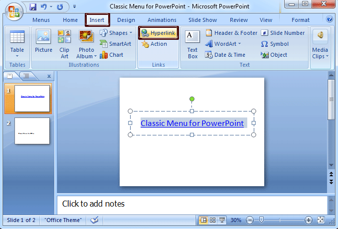 Where is the Edit Links Command in PowerPoint 2007, 2010