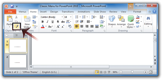 where is the format painter in powerpoint 2007 2010 2013 and 2016