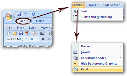 where is the slide design in microsoft powerpoint 2007 2010 2013