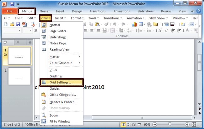 Where is the Snap to Grid in Microsoft PowerPoint 2007, 2010