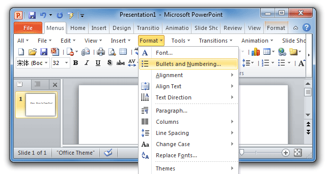 Where are bullets and numbering in powerpoint 2007 2010 2013 and 2016 figure 2bullets and numbering in powerpoint 2010 menus toneelgroepblik Choice Image