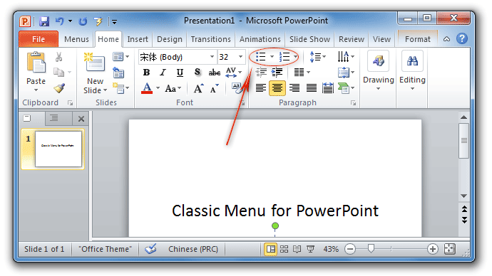 Where Are Bullets And Numbering In Powerpoint 2007 2010