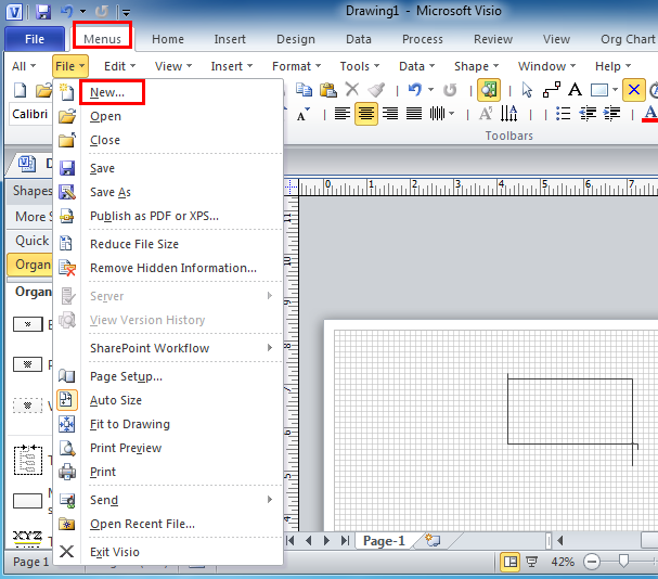 where is the uml model diagram in microsoft visio 2010 and visio 2007 - Visio 2007 Standard