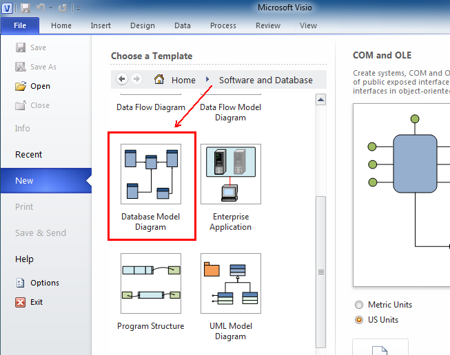 Where Is Reverse Engineer In Microsoft Visio 2010  2013