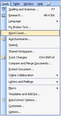 Difference of tools menu between word 2003 word 2007 and for Word 2010 templates and add ins
