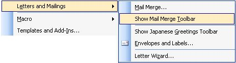 New mailings menu in microsoft word 2010 and word 2007 images about letter and mailings of tools menu in word 2003 spiritdancerdesigns Gallery