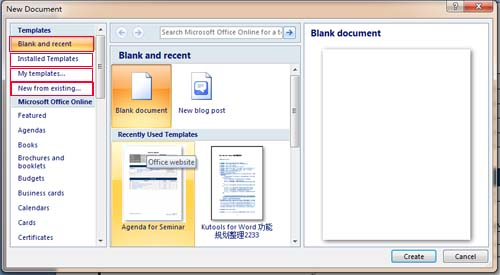 where to save  download and install template in word 2007