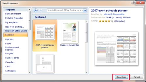 ms word 2007 templates free download