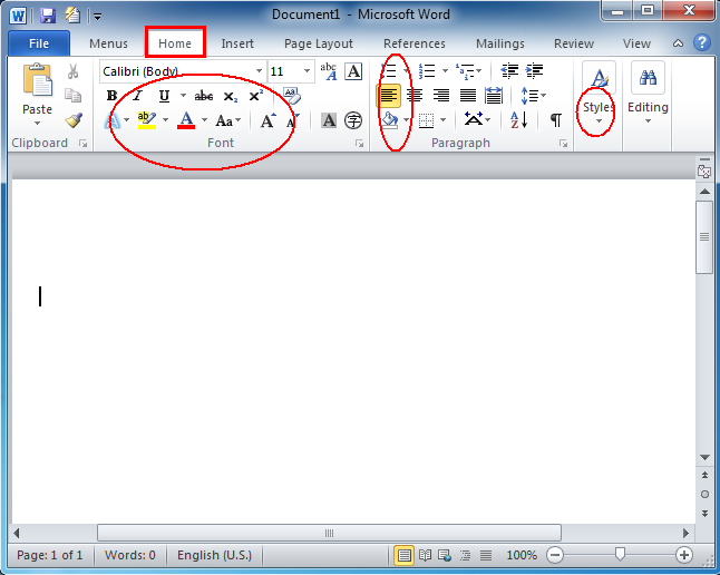 Where is the Format menu in Microsoft Word 2007, 2010 and 2013