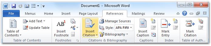 apa format microsoft word 2013