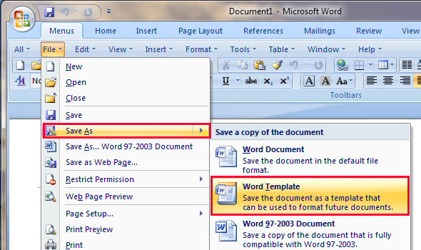 Where To Save, Download And Install Template In Word 2007, 2010, 2013 And  2016  Free Word Templates 2010