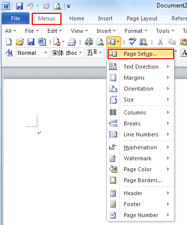 Where Is The Page Setup In Microsoft Word 2007 2010 2013 And 2016